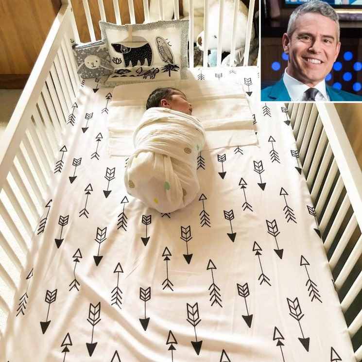 We Found It: The Adorable (and Affordable!) Arrow Sheets in Andy Cohen's Son Benjamin's Crib