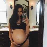 April Love Geary Posts Baby Bump Snap in Her Underwear as She Nears the End of Her Pregnancy