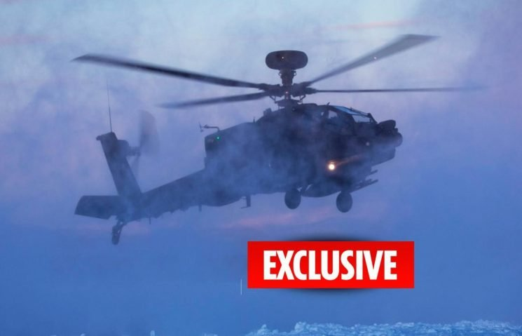 Apache attack helicopters deployed to the Arctic Circle by British Army for first time