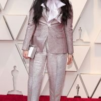 Awkwafina Sips Tequila from a Clutch That Doubles As a Flask on the Oscars Red Carpet