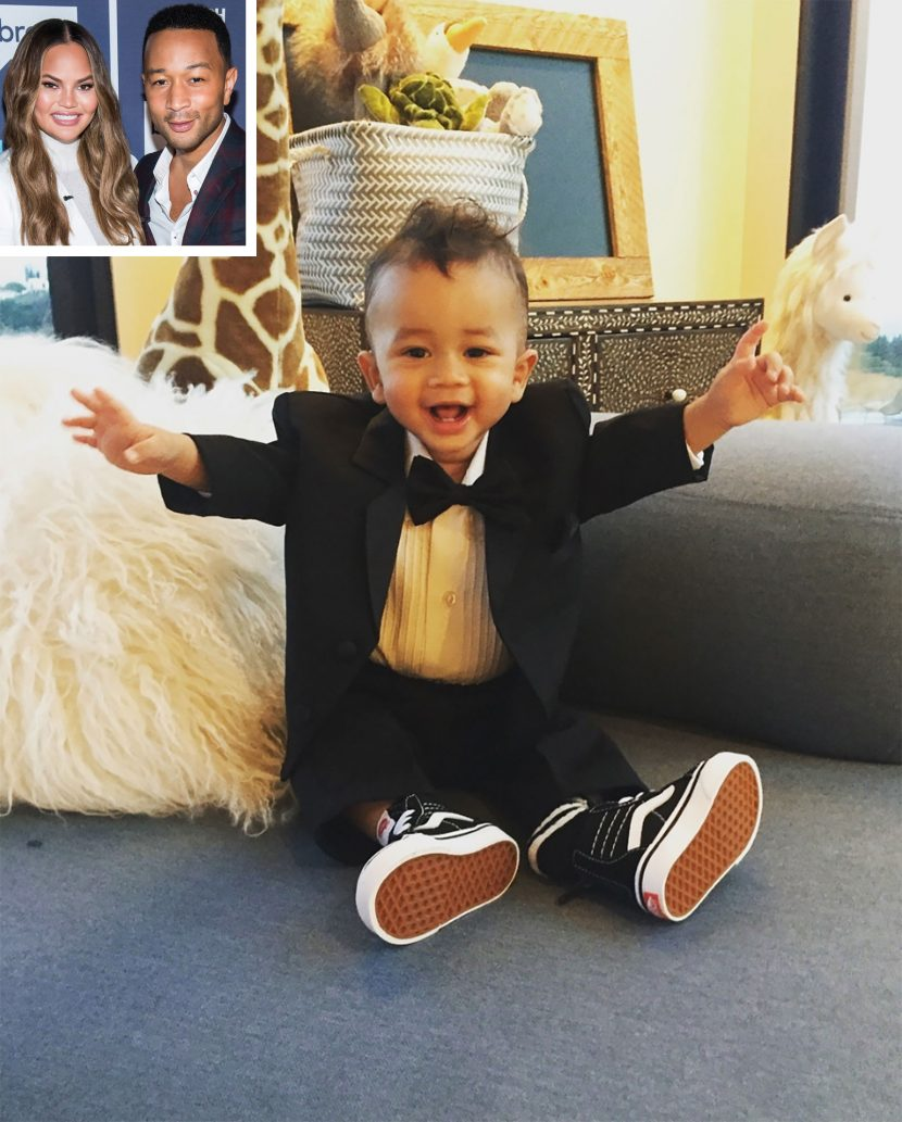Chrissy Teigen Jokes About Cheating on John Legend After Posting Photo of His Mini-Me Miles