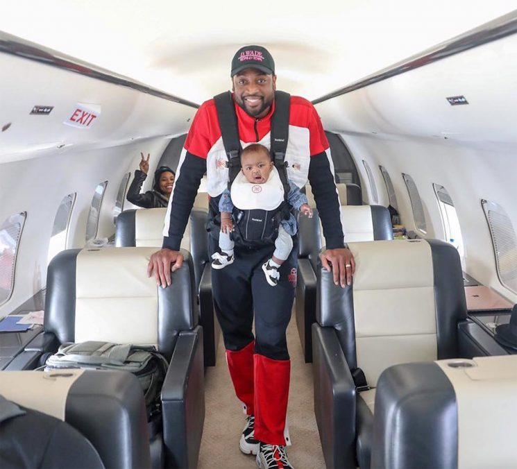 Dwyane Wade Borrows Andy Cohen's 'Swag' in Sweet Plane Photo with Daughter Kaavia: 'I Got You!'