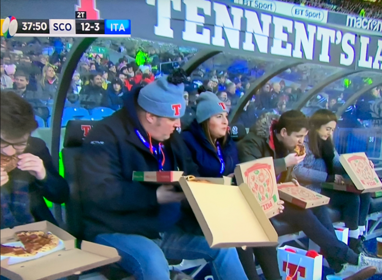 Fans don't fancy Scotland's Six Nations hopes as bench scoff pizza during Italy win