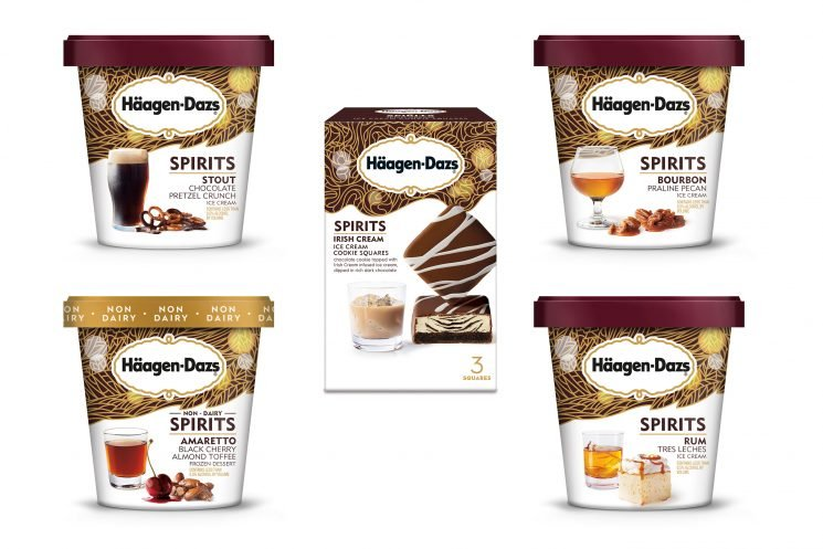 Häagen-Dazs Launches a Line of Boozy Ice Creams Infused with Liquors Like Bourbon and Rum