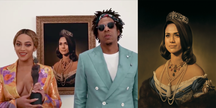 The Artist Behind the Meghan Markle Portrait Didn't Know Beyoncé Was Using It