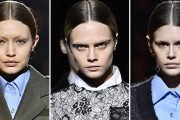 Cara Delevingne, Gigi Hadid, and Kaia Gerber Just Walked The Prada Runway Without Eyebrows