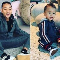 Chrissy Teigen Shares Adorable Photo of John Legend Posing Like His Mini-Me Son Miles