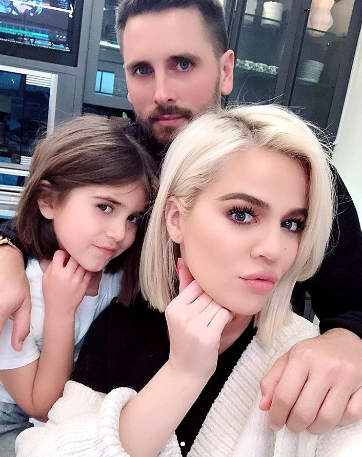 Khloé Kardashian Jokes Penelope Is 'Obsessed' with Her as They Join Scott Disick for Sweet Photo