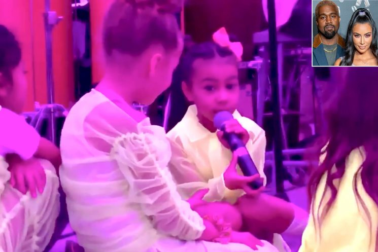 Daddy's Little Songbird! Kanye West's Daughter North Takes Mic at His Gospel 'Sunday Service'