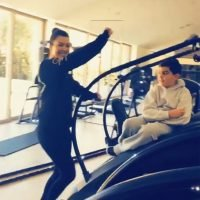 See Kourtney Kardashian's Dancing Mortify Son Mason as Aunt Khloe Jokes, 'Moms Dance Too!'