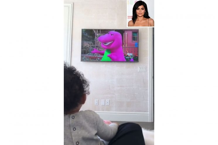'I Love You!' Kylie Jenner's Daughter Stormi Watches Barney for the First Time: 'She Loves It'