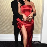 Kylie Jenner & Travis Scott Show PDA at Pre-Grammys Party as He Jokes About 'Tense' Crowd