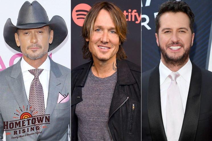 Luke Bryan, Tim McGraw and Keith Urban to Kick Off Inaugural Hometown Rising Festival