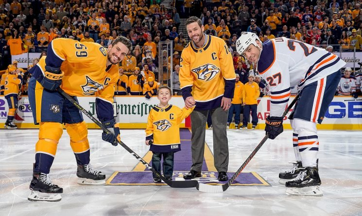 Mike Fisher and Son Isaiah Have a 'Blast' During Night Out at Predators Game – See the Photos
