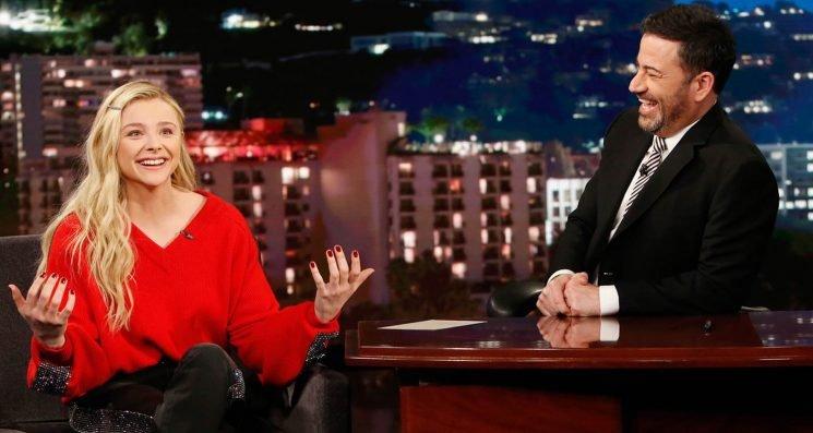 Chloe Moretz Tells 'Kimmel' She Trained As Real Waitress for 'Greta'!