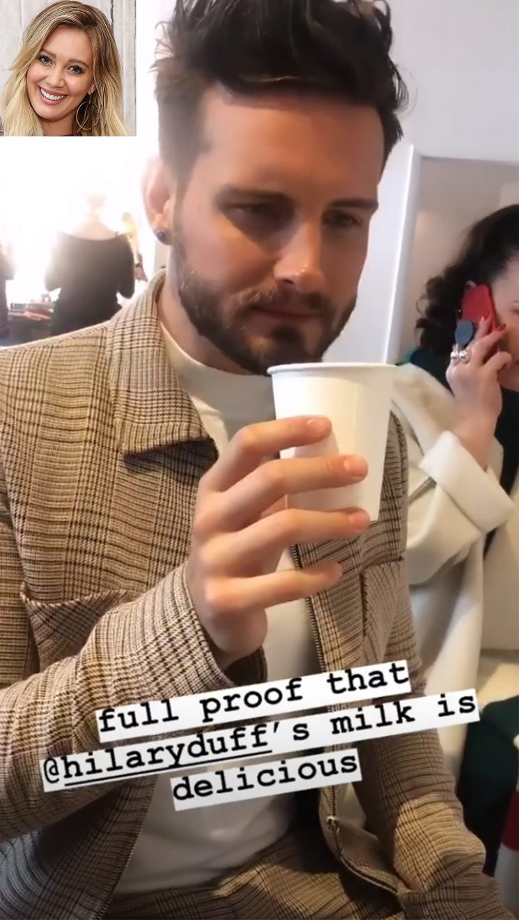 Hilary Duff's Younger Costar Nico Tortorella Drinks Her Breast Milk: 'It Is Delicious!'