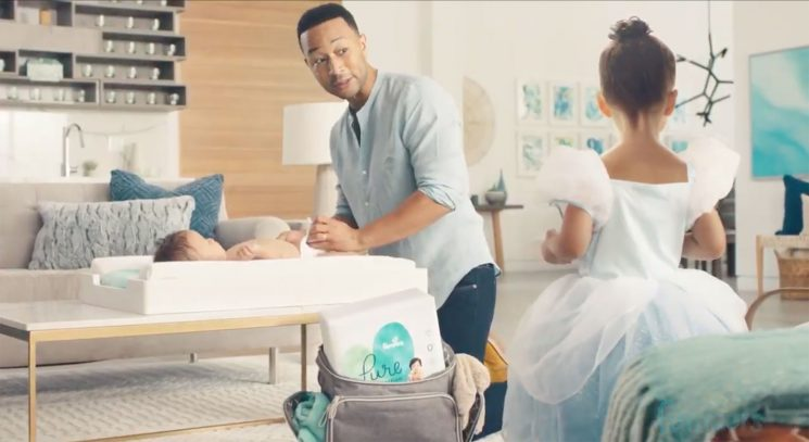 Hands-on Dads Adam Levine and John Legend Embrace Dirty Diapers in Pampers Super Bowl 2019 Ad