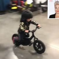 Pink's Son, 2, Rides Electric Motorbike as Dad Carey Hart Jokes, I'm 'Gonna Have My Hands Full'