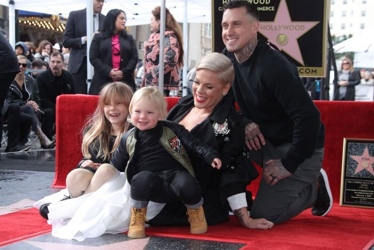 Pink Brings Her Family to Hollywood Walk of Fame and Thanks Husband Carey Hart for Being 'My Muse'