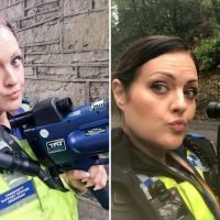 Selfie-obsessed female cop who poses in uniform with speed gun on Facebook slammed by angry motorists