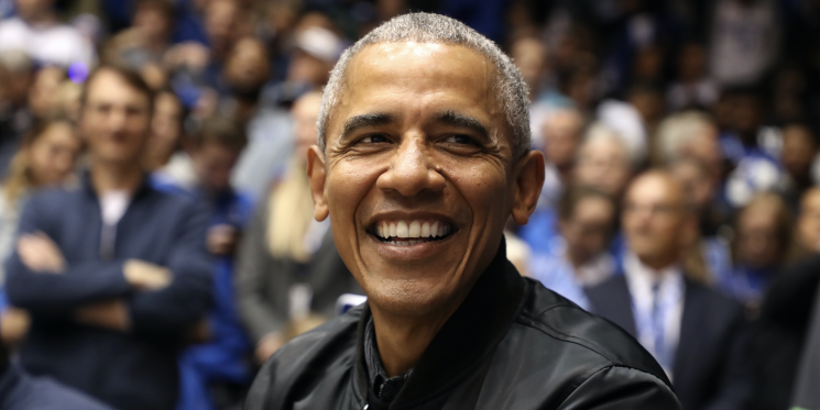 Barack Obama's Branded Bomber Jacket Is the Cool Daddy Look We've Been Dreaming Of