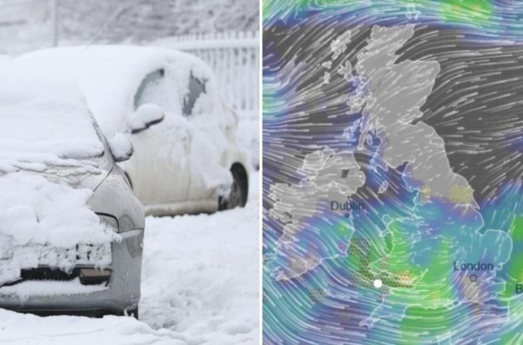 UK weather forecast – Snow to hit Britain AGAIN today hours after killer Storm Erik wreaked havoc