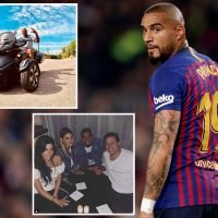 Burglars steal £250k of jewellery and cash from Kevin-Price Boateng's mansion while star making Nou Camp debut