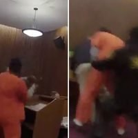 Man attacks attorney after he's slapped with 47-year sentence: video