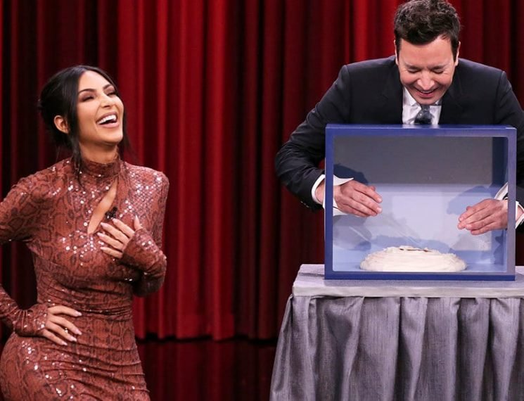 Kim Kardashian Freaks Out Touching Weird Things with Fallon, But the Last One Was Genius