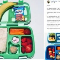 Mum who makes incredible packed lunches is told by teacher to give her slow-eating daughter LESS food so she has 'more time to play'