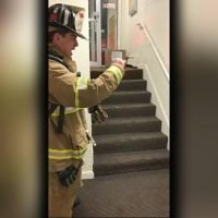 New Hampshire firefighter uses sign language to communicate with non-verbal boy, touching video shows