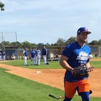 Tim Tebow Takes Another Step With the Mets (and Avoids Sprinklers This Time)