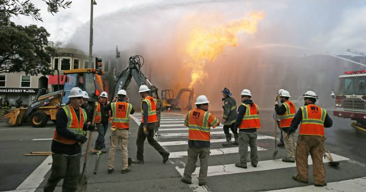 San Francisco gas explosion burns 5 buildings as crews fight to contain the blaze