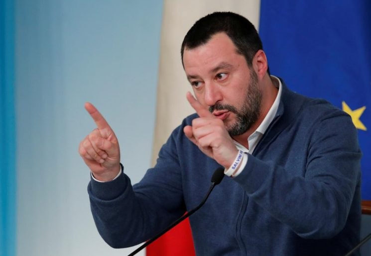 Italy's Salvini says happy to meet Macron to discuss diplomatic row