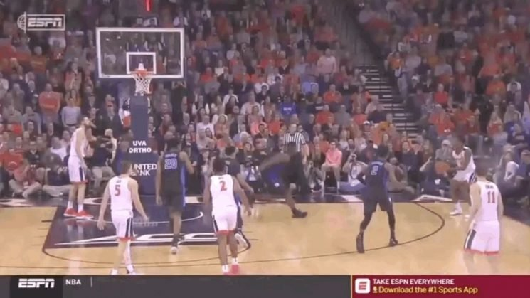 Zion Williamson Temporarily Activates His Flying Abilities To Bash Three-Point Shot Into Crowd