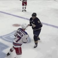 Sabres' Kyle Okposo Knocked Out Of Game After Taking One Punch From Rangers' Tony DeAngelo