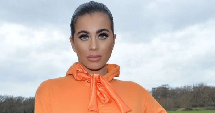 Katie Salmon ignores 'lifetime ban' from Cheltenham Festival in very booby dress