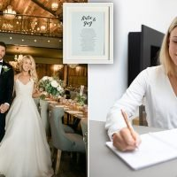 Bride who launched her own poetry business now writes for famous faces