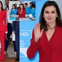QueenLetizia wears stunning red outfit with matching accessories