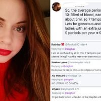 Man calculates how many tampons a woman uses per period