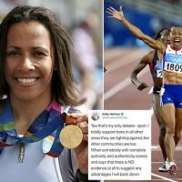 Dame Kelly Holmes targeted for comments on trans athletes