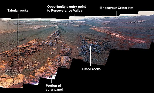 NASA's Opportunity Rover took one final stunning  panorama of Mars