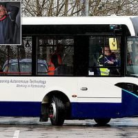First full-sized bus with driverless technology trialled in UK