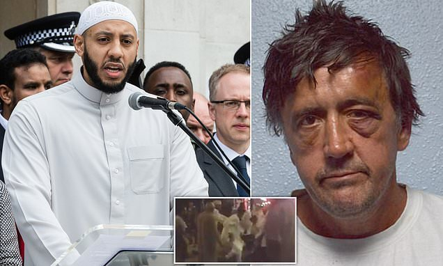 Hero imam who saved Finsbury Park attacker from angry crowd is spat at