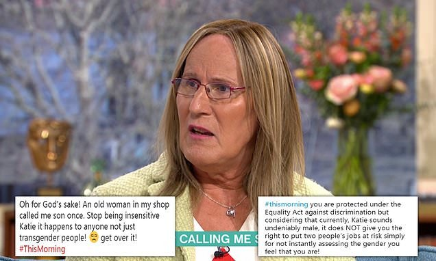 Transgender woman blasted by This Morning viewers for complaint
