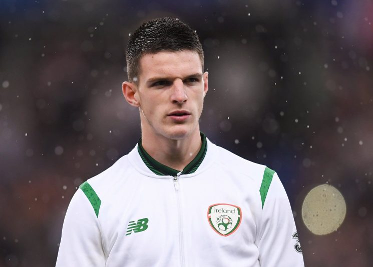 Declan Rice named Ireland's Young Player of the Year despite declaring for England