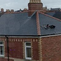 Man flees from police through ROOF of house after officers arrive at front door