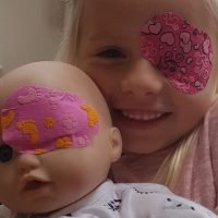 'My little girl's a superhero – and she's got her super eye patch to prove it'