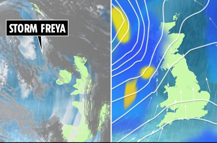 Met Office weather forecast WARNING – Storm Freya to blast UK with 80mph winds this weekend