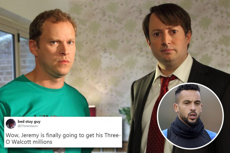 Three-O Walcott day finally arrives for Peep Show fans – cheque's in the post, Jez